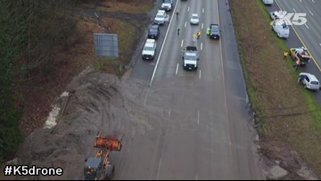 "KING 5 drone ""Dexter"" provides a bird's eye view of the landslide"