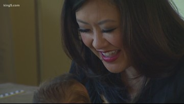 KING 5's Michelle Li introduces baby JJ on Take 5