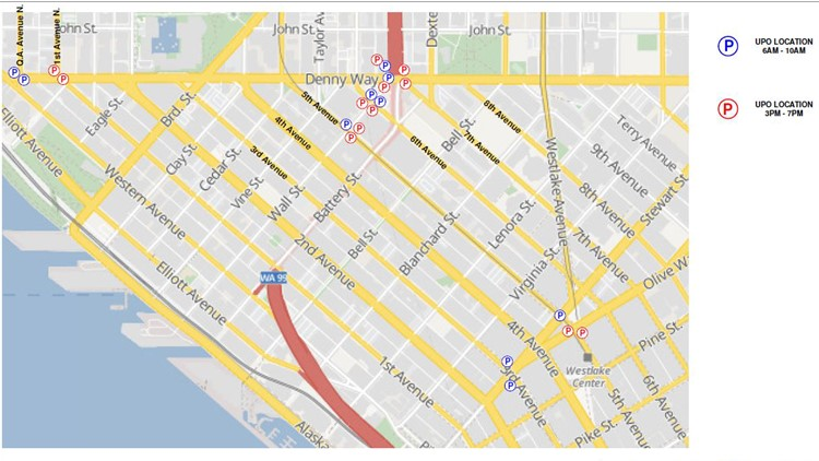 King 5 Traffic Map.Police To Direct Traffic At Seattle Intersections During Viaduct