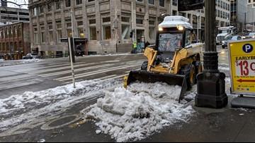 Seattle plowing bikes lanes during snowstorm