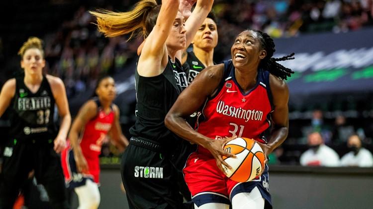 Charles' 34 points, 16 rebounds help snap Storm's win streak