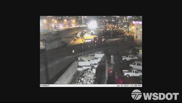 Timelapse footage of WSDOT crews unearthing new Seattle tunnel ramp
