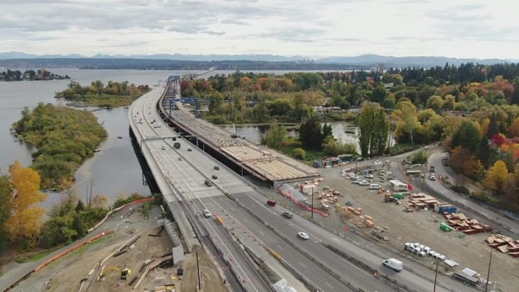 SR 520 closed this weekend for Montlake Boulevard overpass removal