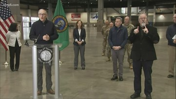 Gov. Jay Inslee speaks about field hospital to be set up at CenturyLink Field Event Center