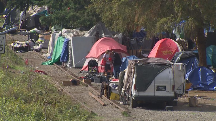 Olympia neighbors frustrated with crimes linked to sprawling homeless camp