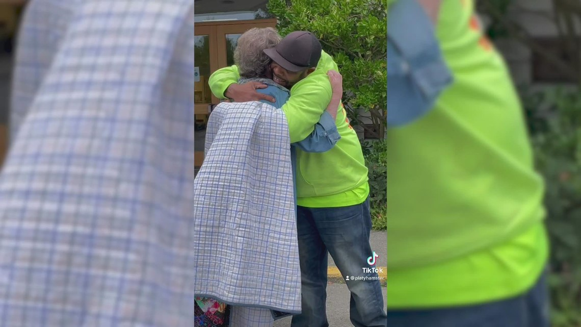 Friday Harbor city worker surprised with homemade quilt from Facebook friend