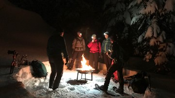 Snowshoe under the stars in Bend, Oregon