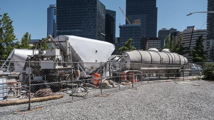 Crews begin final stage of filling Seattle's Battery Street Tunnel