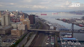 Drone footage of Tacoma
