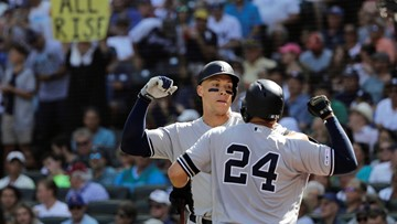 Yankees bash 4 more HRs, sweep Mariners with 7-3 victory