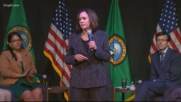 Democratic Presidential candidate Kamala Harris hosts standing room only events in Seattle