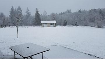 Snow flurries Friday throughout western Washington