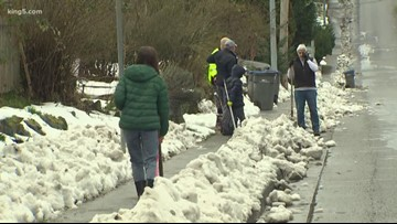Bremerton volunteers shovel clear paths to schools