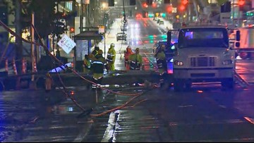Dexter Ave N in Seattle reopens after semi-truck hits power lines