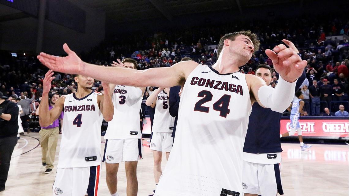 No. 2 Gonzaga leaves North Carolina blue after 94-81 victory
