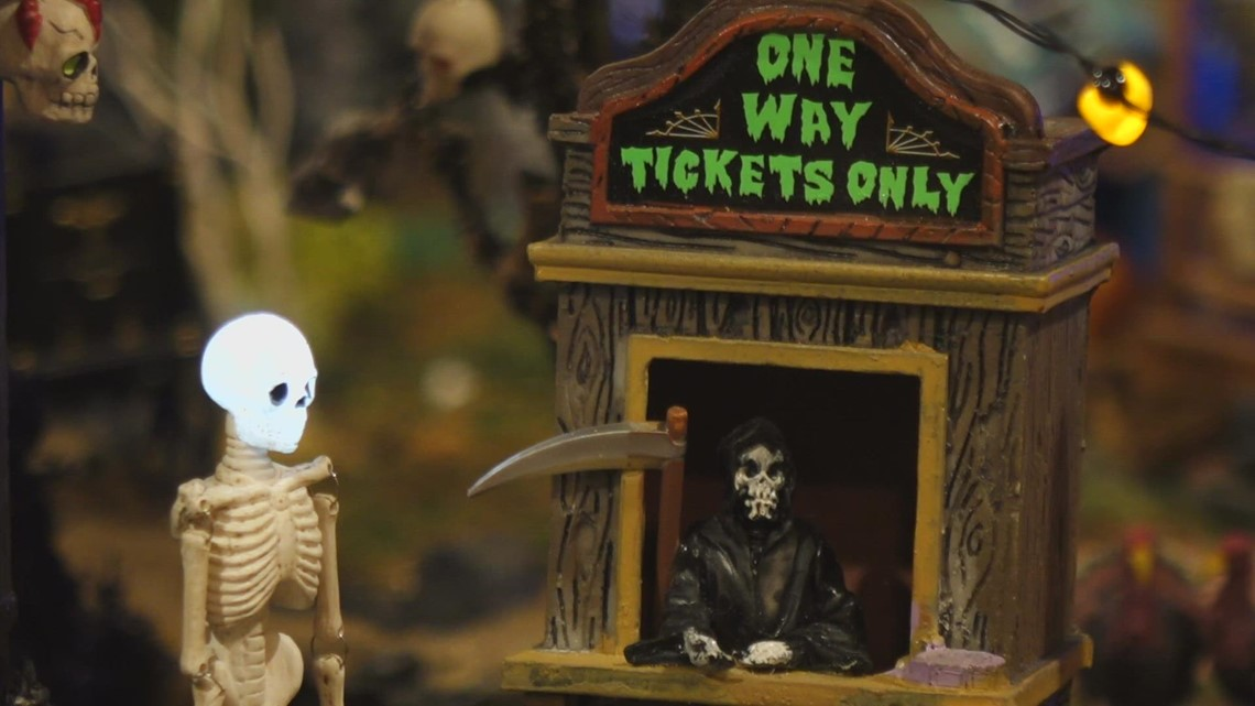 North Bend family creates most epic model of a Halloween-themed town