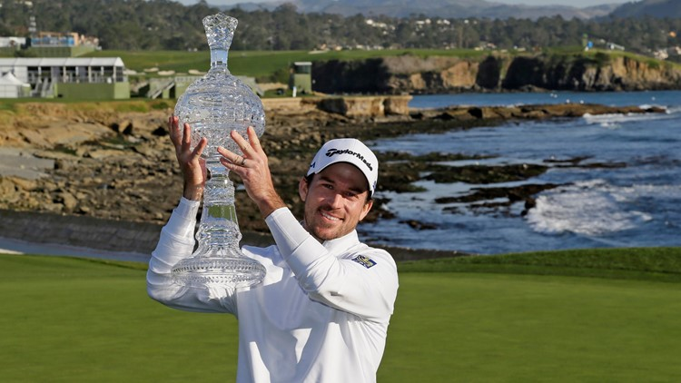 Taylor handles the wind, Mickelson to win at Pebble Beach