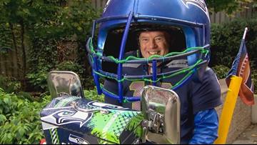 Seahawks super-fan spreads Seattle spirit in a BIG way