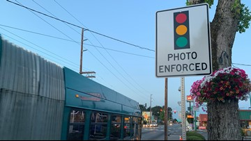 Warning period for 3 new red light cameras in Kent begins Saturday