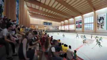 Vision revealed for NHL Seattle headquarters and community ice rink at Northgate Mall