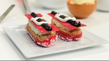These Santa Claus Éclairs are almost too cute to eat ... almost!