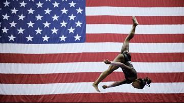 Simone Biles inspires young Washington gymnasts with historic championship
