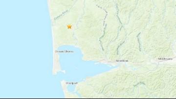 Magnitude 3.4 earthquake recorded near Ocean Shores Tuesday morning