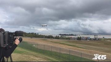 Boeing 787-9 Dreamliner ferried to Everett from Charleston, S.C.