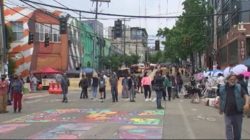 City Of Seattle Changes Barriers In Chop Protest Zone King5 Com