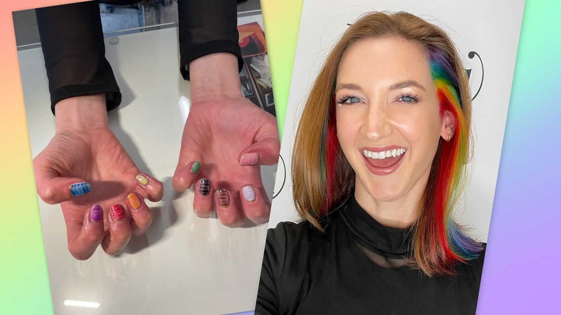 Pride trend: Rainbow hair and nails!