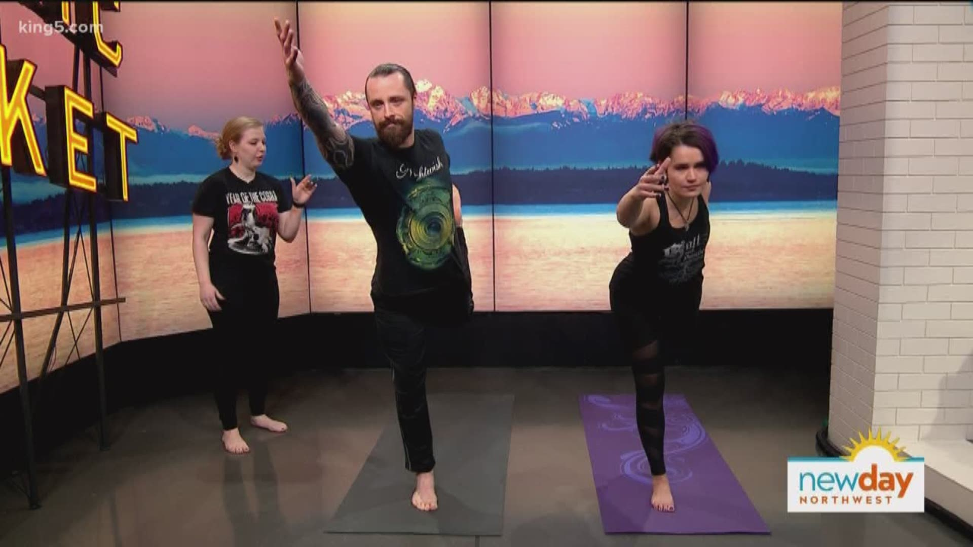 Get Your Blood Pumping With Metal Yoga King5 Com