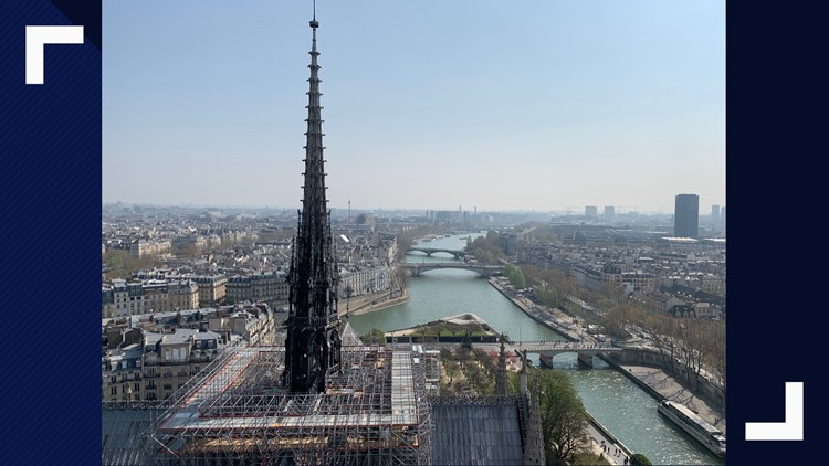 Notre Dame view of spire