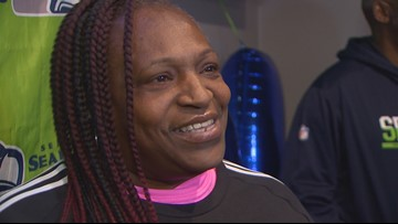 Momma Lynch celebrates her birthday with Seahawks fans and shares gameday advice for Marshawn