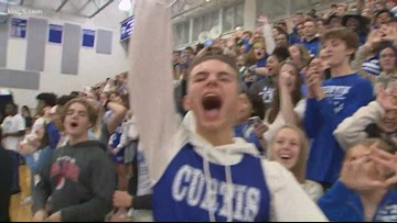 Friday football pep rally: Curtis High School