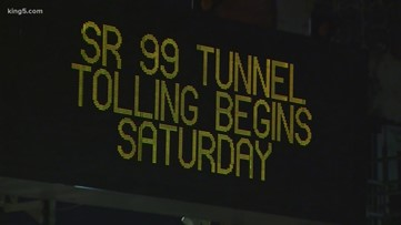 Seattle 99 tunnel tolls now in effect