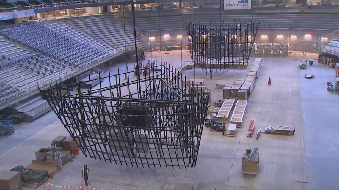 See how Seattle's Climate Pledge Arena is taking shape