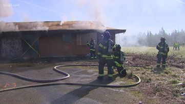 Graham firefighters test 'Firefly' tracking technology in the field