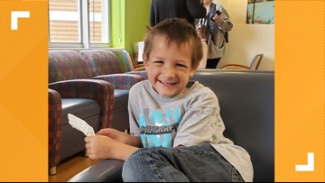 Crowds turn out to visit Bremerton boy recovering from cancer on Halloween