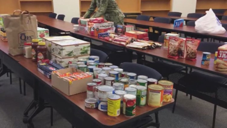 Food bank for Coast Guard families opens in Marysville during government shutdown