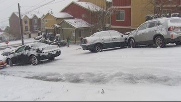 Drivers battle snow, slick streets in south sound