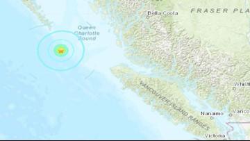 Magnitude 5.6 earthquake recorded off the coast of British Columbia