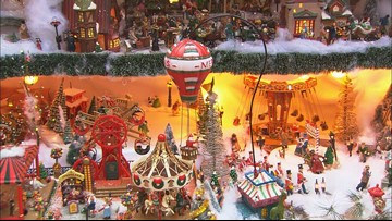 This mini Christmas town fills a whole room with maxi holiday cheer
