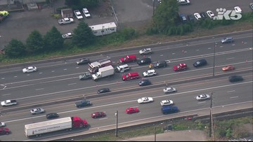 Crashes in both directions of I-405 cause major traffic