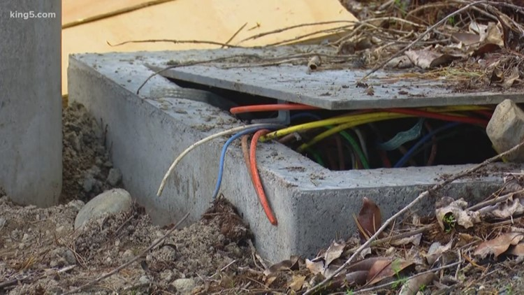 Thieves steal copper wiring from light poles at Edmonds School District Stadium
