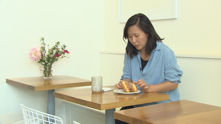 Chef Rachel Yang eats some of her favorite decadent doughnuts from General Porpoise Doughnuts in Capitol Hill.