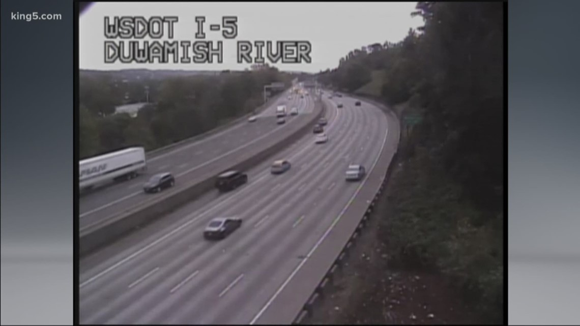Emergency repairs to reduce portion of I-5 northbound in Tukwila to 2 lanes