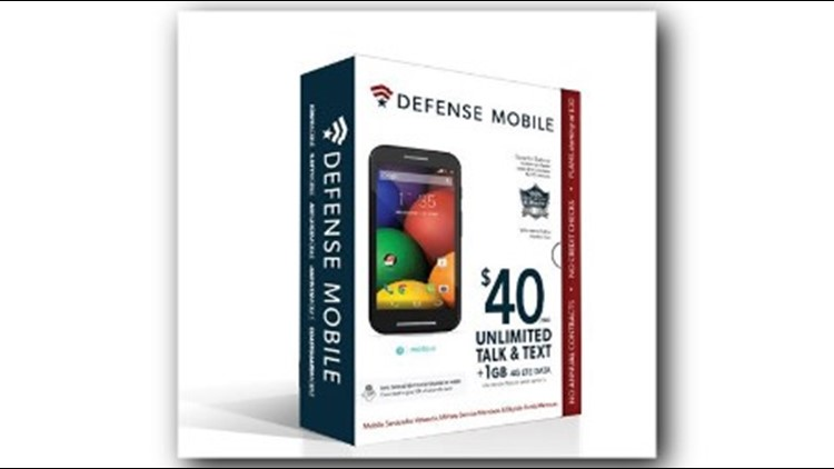Defense Mobile says its about 30% to 40% cheaper on average than other wireless services. Photo: Defense Mobile