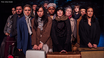 "Tim Robbins' new play ""The New Colossus"" tells the true story of 12 refugees, 12 eras, and 1 border"