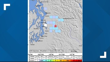 Another magnitude 3 earthquake shakes near Fall City