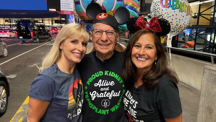Seattle woman surprises father with trip to Disneyland for kidney transplant anniversary